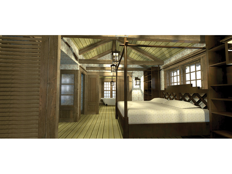 Beach & Coastal House Plan Bedroom Photo 01 - Duck Blind Coastal Cottage 152D-0055 | House Plans and More