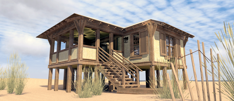 Duck Blind Coastal Cottage Plan 152d