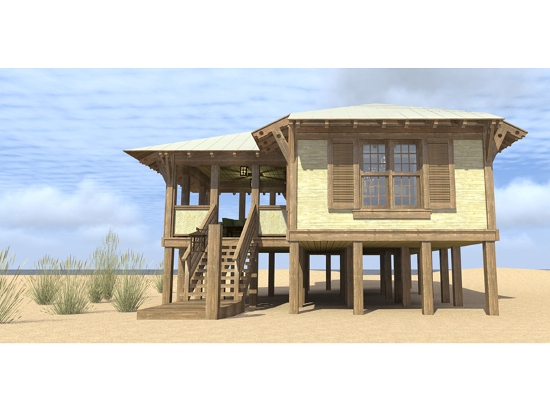 Beach & Coastal House Plan Front Photo 01 - Duck Blind Coastal Cottage 152D-0055 | House Plans and More