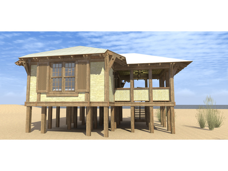 Beach & Coastal House Plan Front Photo 02 - Duck Blind Coastal Cottage 152D-0055 | House Plans and More