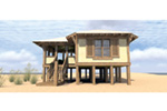 Beach & Coastal House Plan Side View Photo 01 - Duck Blind Coastal Cottage 152D-0055 | House Plans and More
