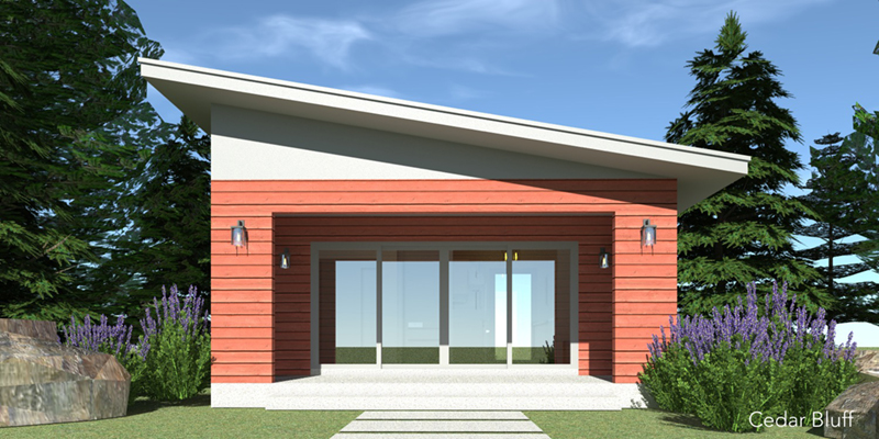 Contemporary House Plan Front of Home - Pascal Modern Cottage Home 152D-0079   House Plans and More