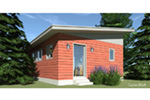 Contemporary House Plan Rear Photo 01 - Pascal Modern Cottage Home 152D-0079   House Plans and More