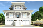 Vacation House Plan Front of Home - 152D-0130 | House Plans and More
