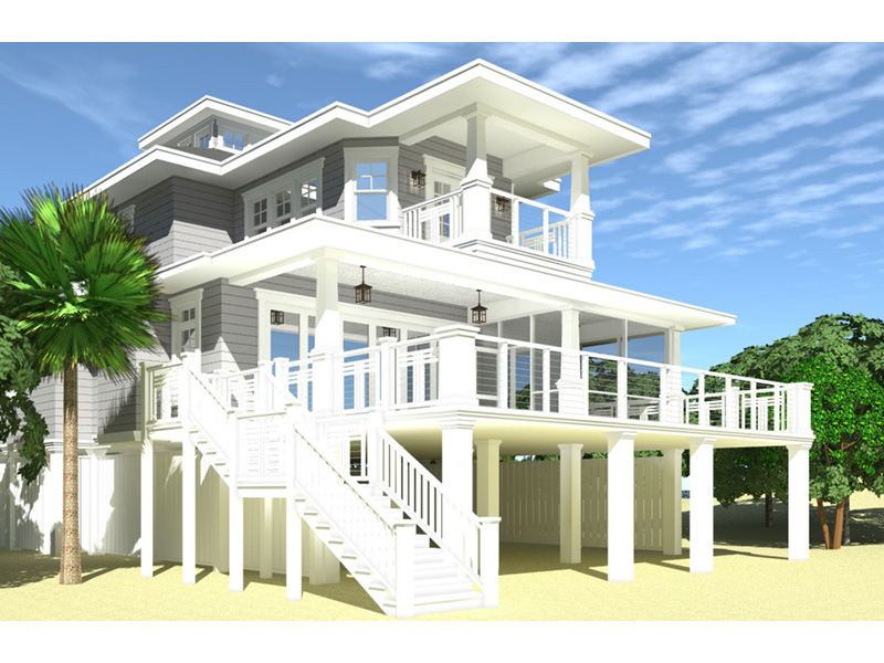 Vacation House Plan Rear Photo 01 - 152D-0130 | House Plans and More