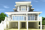Vacation House Plan Rear Photo 02 - 152D-0130 | House Plans and More