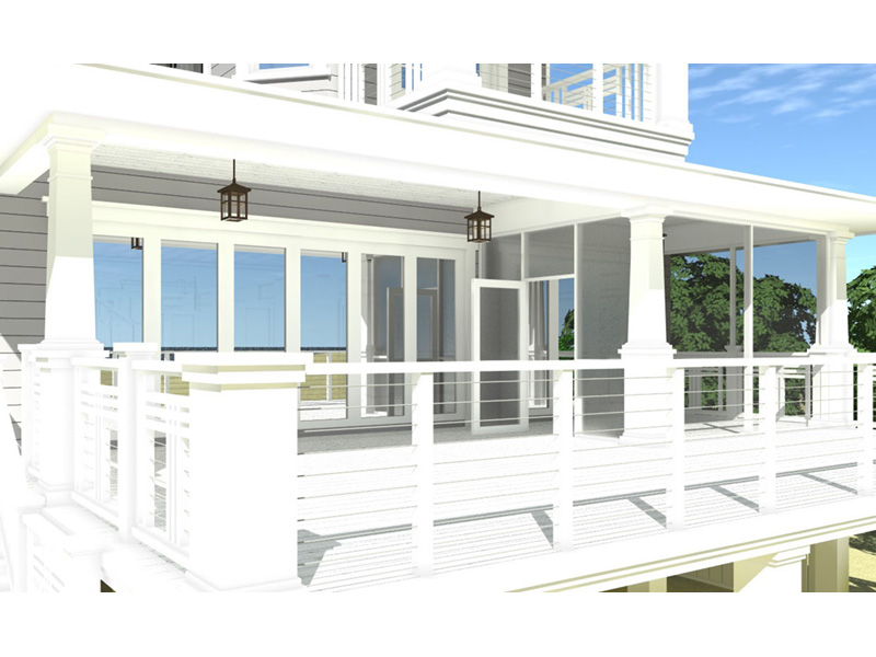 Vacation House Plan Rear Photo 03 - 152D-0130 | House Plans and More