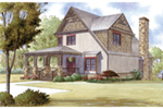 Craftsman House Plan Front of Home - Appalachian Trail Rustic Home 155D-0016 | House Plans and More