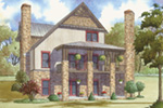 Craftsman House Plan Rear Photo 01 - Appalachian Trail Rustic Home 155D-0016 | House Plans and More