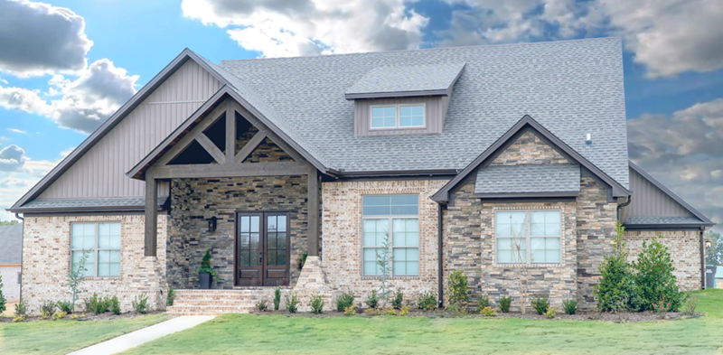 Traditional House Plan Front of Home - Mayer Stream Craftsman Home 155D-0027 | House Plans and More