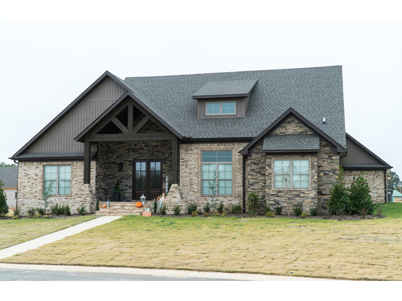 Traditional House Plan Front Photo 01 - Mayer Stream Craftsman Home 155D-0027 | House Plans and More