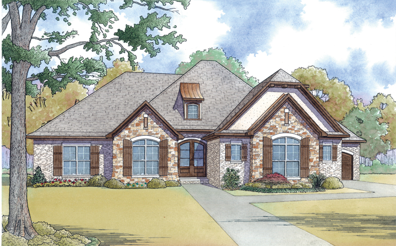 European House Plan Front Image -  155D-0065 | House Plans and More