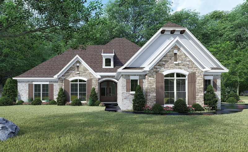 European House Plan Front of Home -  155D-0065 | House Plans and More