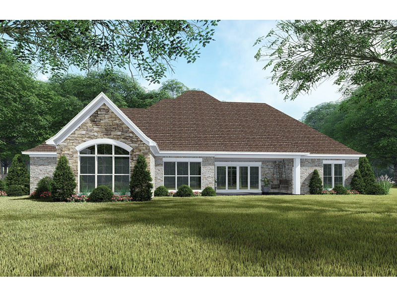 European House Plan Rear Photo 01 -  155D-0065 | House Plans and More